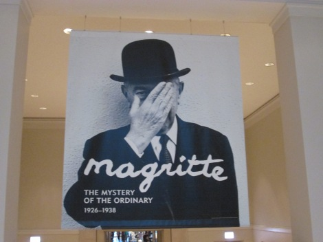 Magritte exhibit (photos not allowed inside, sadly.)