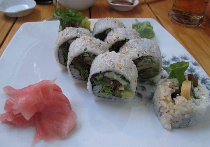 Vegetarian sushi at Hikari in Wrocław.