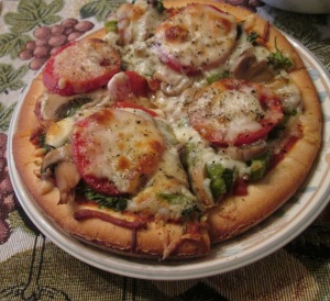 Veggie pizza... mmm.