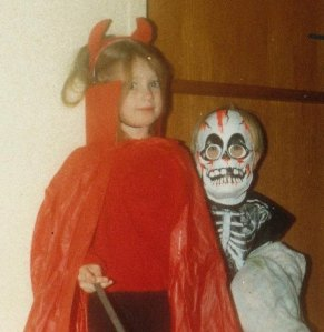 Yours truly and my brother, Halloween 1987.