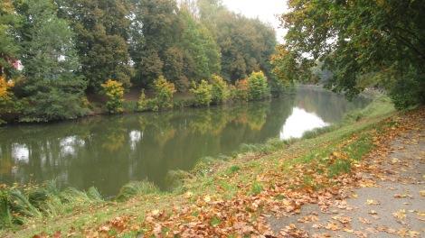 The Orlice river in Hradec Králové.