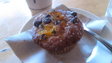 Orange chocolate muffin, from Flying Star.
