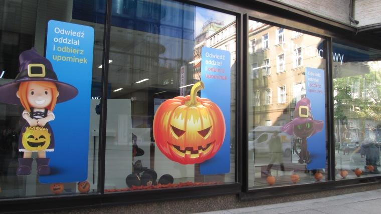 Halloween at at a CitiBank near Rynek.