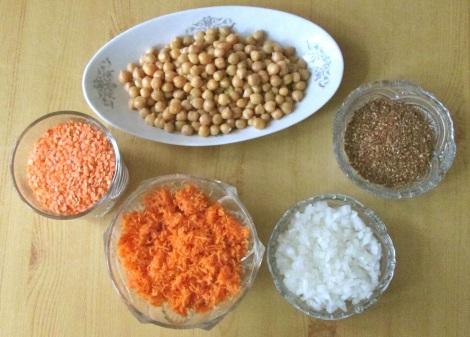 Teh ingredients.