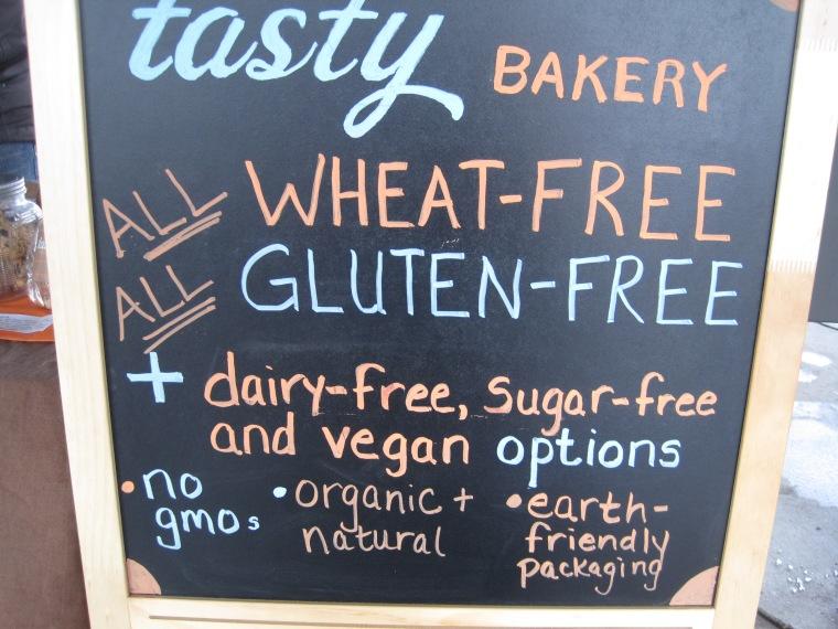 Tasty Bakery's sign from the Ann Arbor Farmers Market.