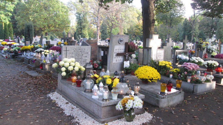 Local cemetery adorned for All Soul's Day, Wrocław.