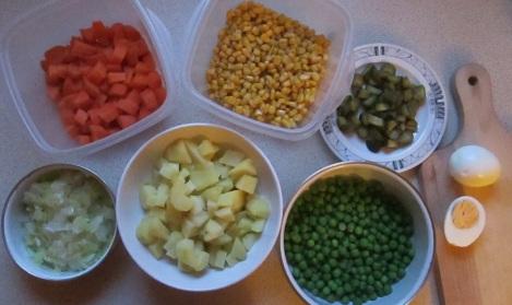 All the veggies.