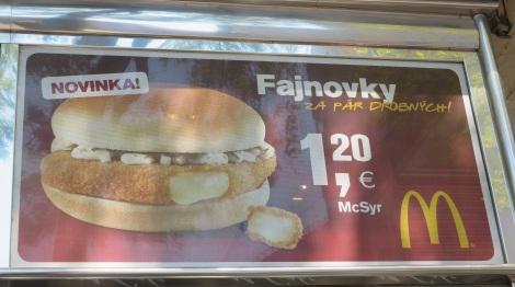 McSyr: Slovakian for McCheese.
