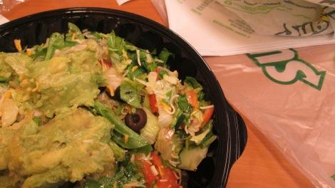 Subway salad.