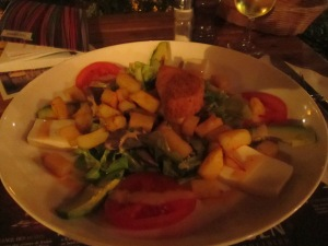 Salad with fries... literally!