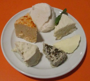 Vegan cheese plate, courtesy of the Loving Hut.
