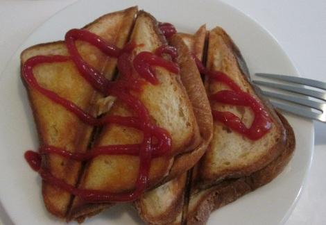 Gluten-free cheese toast, Bistro Friendly Food.