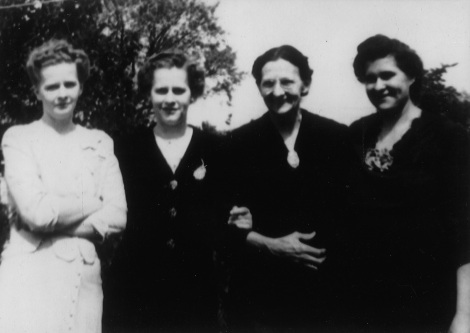 Second from left, my great-grandmother, whose father was born in Poland.