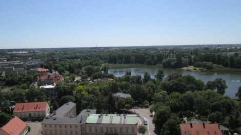 View from the top of the Gniezno Cathedral.
