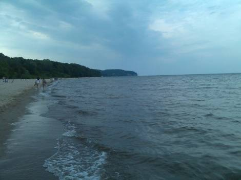 The cool waters of the Baltic Sea, Sopot.