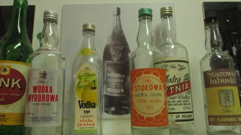 Bottles from the kitchen at the communist museum.