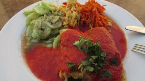 Stuffed cabbage at Vegebar.