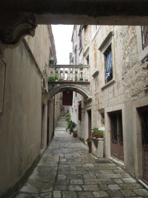 The medieval town in Korcula.