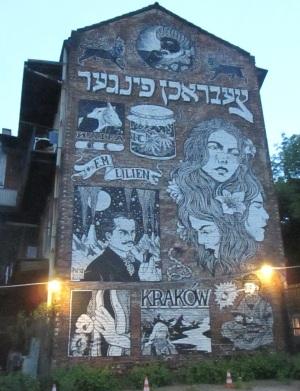 Street art in the Jewish Quarter.