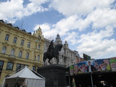 Zagreb's main square.