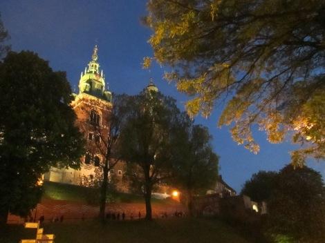 Wawel Castle at night, Krakow.