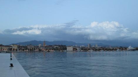 Looking back at Split's harbor.