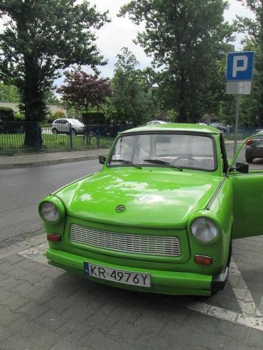 Trabant car, of Crazy Tours, Krakow.