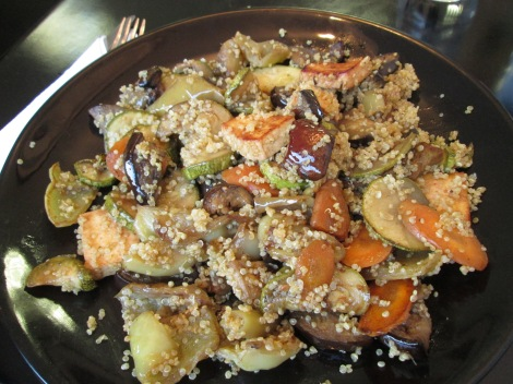 Stir fry with quinoa at Vege.