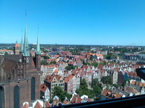View from the top of Old City Hall, Gdansk.