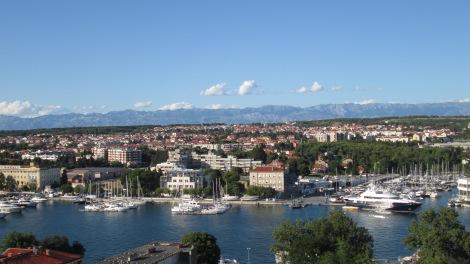 Zadar, as seen from a church tower.