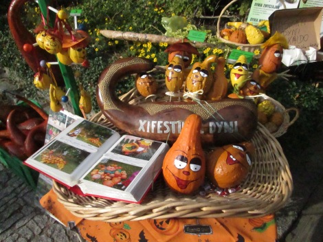 Painted squash for sale from Wroclaw, Poland.