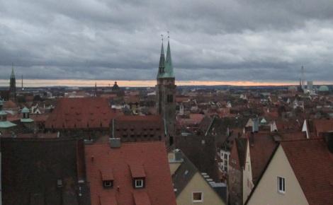 Sunset in Nürnberg.