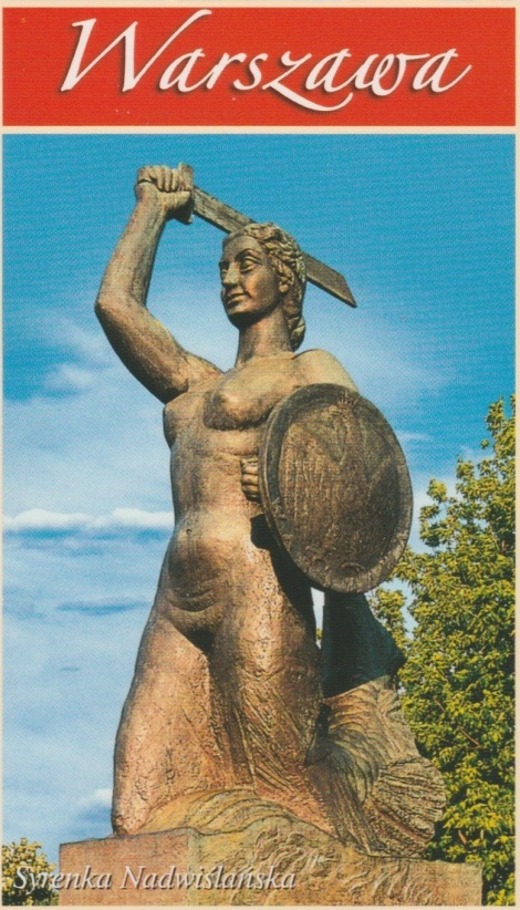 The siren statue Krystyna Krahelska posed for.