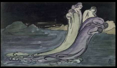 The Wave by Pamela Coleman Smith, 1903. Image via Whitey Museum of American Art.