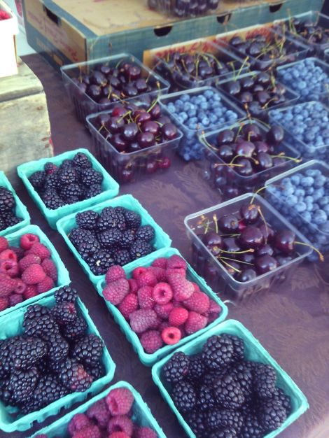 Berries from Wayne State's farmer's market.