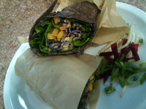 Veggie wrap from The Clean Plate, in Macomb County.