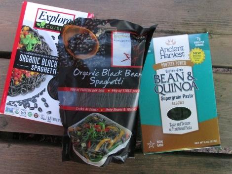 Some varieties of black pasta.