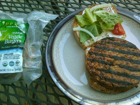 Ope's gluten-free veggie burgers.
